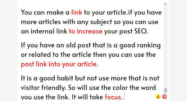 make internal linking seo for your blog post
