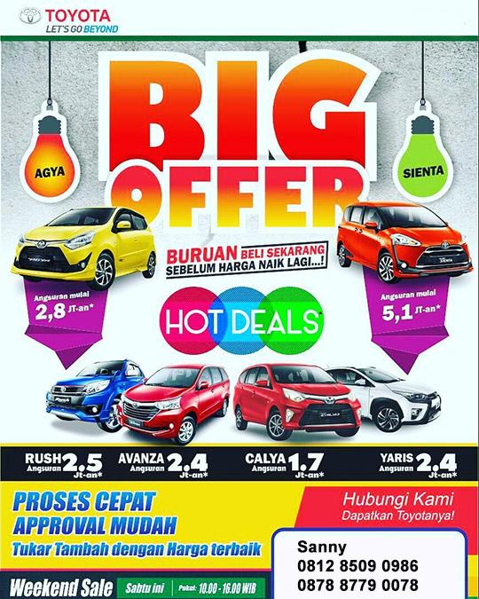 Promo Toyota Harmoni Jakarta Pusat