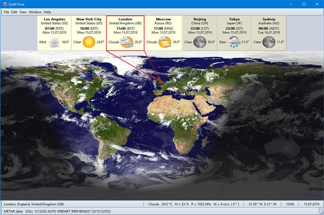 تحميل برنامج معرفة التوقيت المحلي لجميع مناطق العالم EarthTime