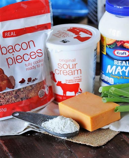 Bacon-Cheddar Ranch Dip Ingredients Image