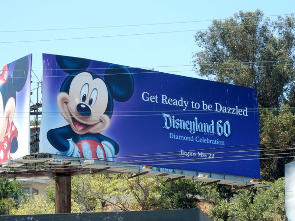 Mickey Mouse dazzled Disneyland 60 billboard