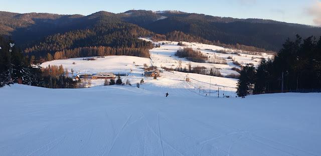 Ośrodek narciarski Czorsztyn Ski, góra Wdżąr, trasa nr 1 niebieska