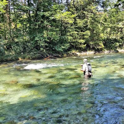 Fliegenfischen an der Berchtesgadener Ache