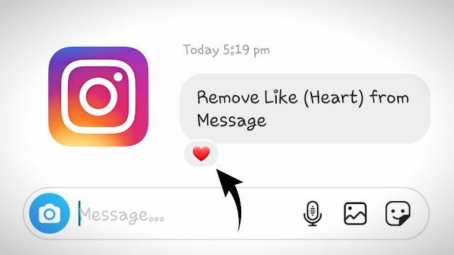 Remove like from Instagram message