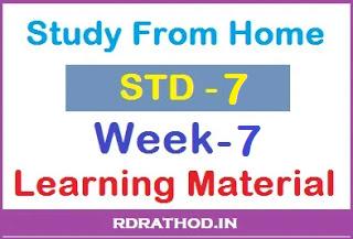 Std 7 SSA Homework pdf Week 7 Download