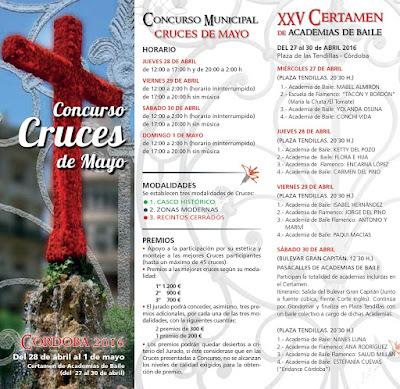 Programa Cruces de Mayo y Certamen Academias de Baile 2016 - Córdoba