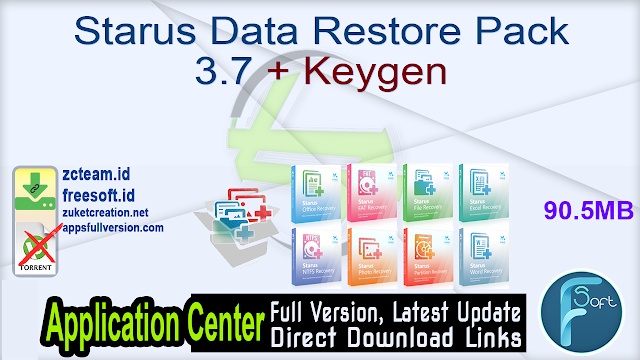 Starus Data Restore Pack 3.7 + Keygen_ ZcTeam.id