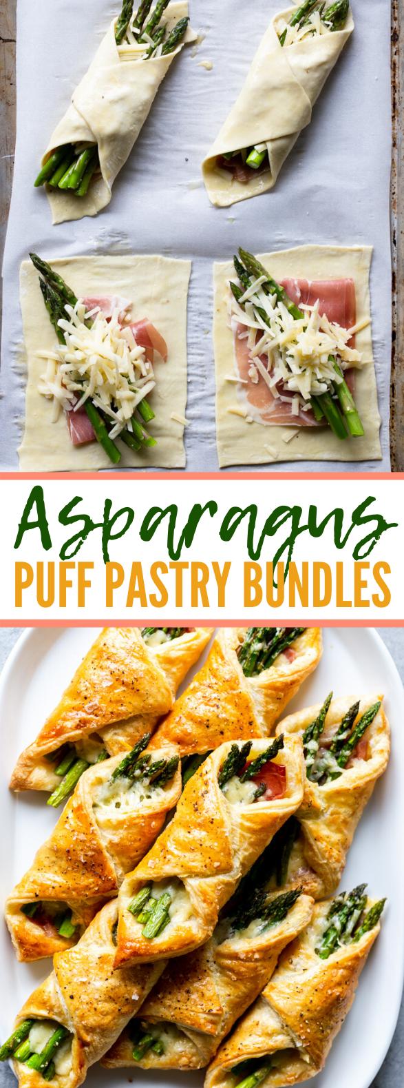 PROSCIUTTO ASPARAGUS PUFF PASTRY BUNDLES #appetizers #brunch