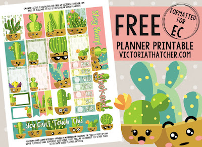 free cactus planner printables