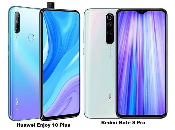 Huawei Enjoy 10 Plus Vs Xiaomi Redmi Note 8 Pro Specs Comparison