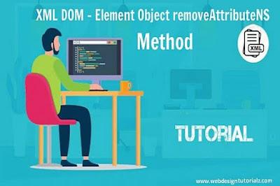 XML DOM - Element Object removeAttributeNS Method