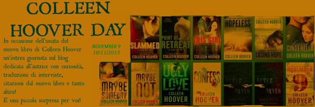 COLLEEN HOOVER DAY - NOVEMBER 9