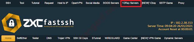 klik v2ray servers