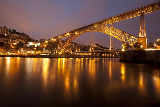 Ponte Dom Luis I di notte-Porto
