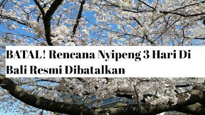 Rencana Nyipeng 3 Hari Di Bali Resmi Dibatalkan