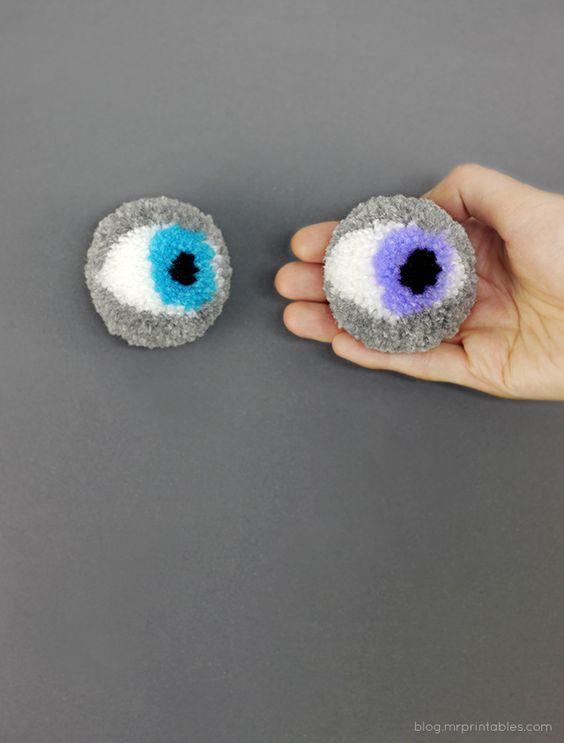 gözlü ponpon yapımı