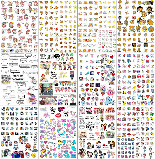 stickers kpop  doramas e personagens asiaticos