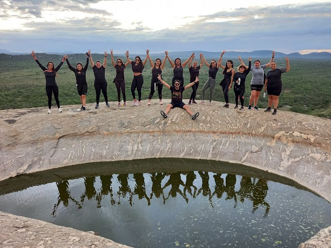 Grupo visita a Serra da Onça, na Zona Rural de Santa Cruz do Capibaribe