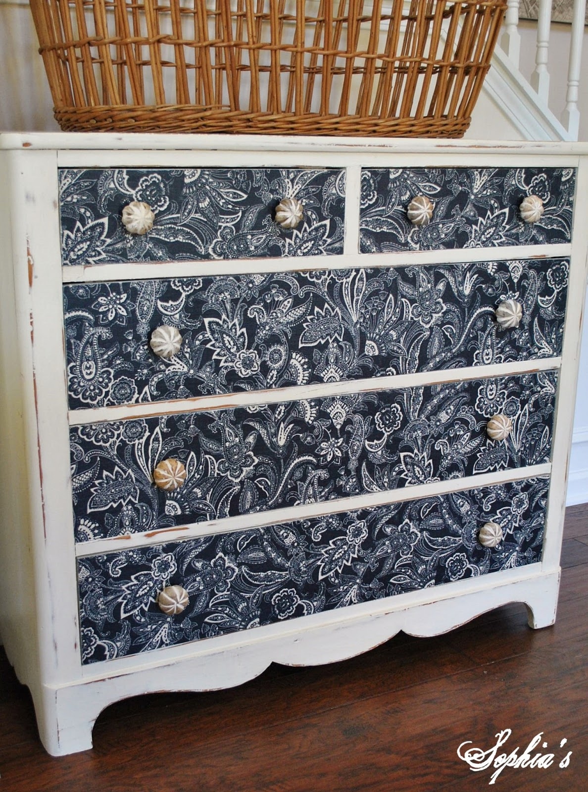 Sophia S Dresser Makeover With Fabric