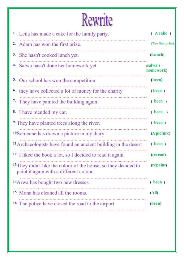 مراجعة قواعد اللغة الإنجليزية للصف الثالث الاعدادي الترم الثاني في 14 ورقة تحفة 4_008