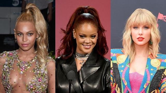 Beyonce, Rihanna y Taylor Swift en la lista de mujeres más poderosas de Forbes