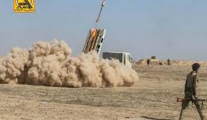 """القوة الصاروخية للواء 50 في الحشد الشعبي تقتل عددا من عناصر """"داعش"""" بدك تجمع لهم جنوب القيارة"""