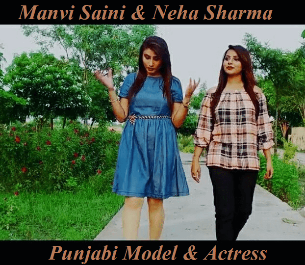 Manvi Saini with Neha Sharma Punjabi Model Actress HD Photo Pics Images Wallpaper
