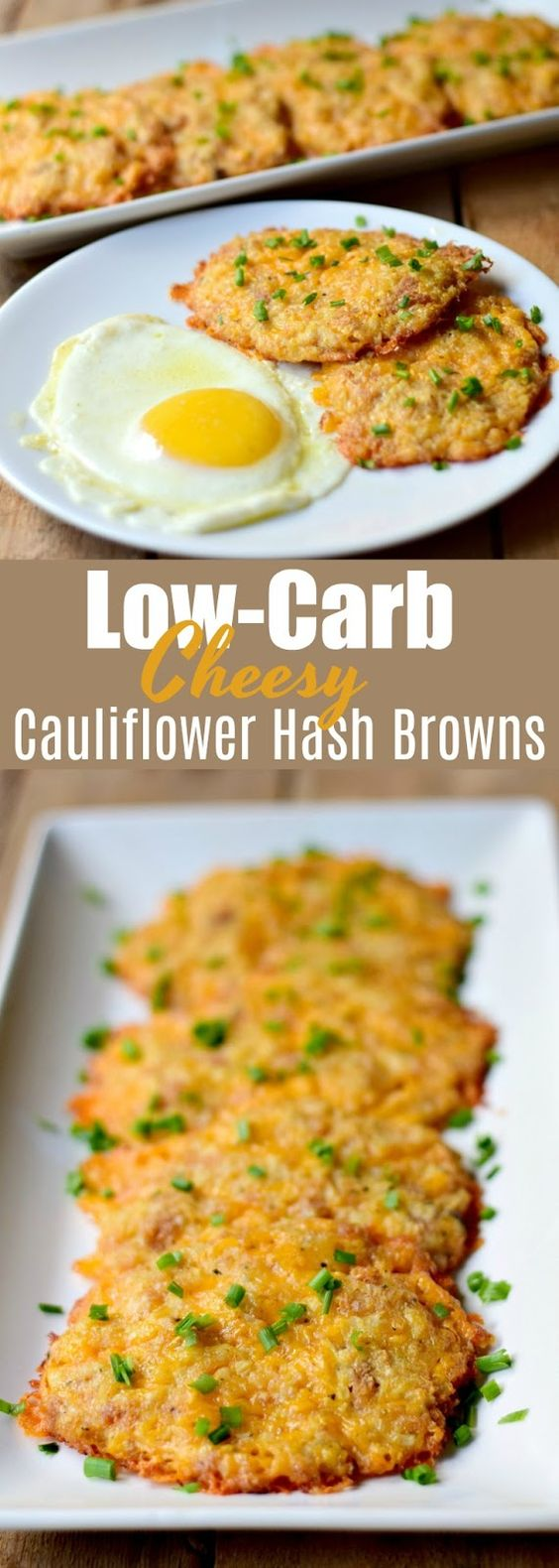 LOW CARB CHEESY CAULIFLOWER HASH BROWNS