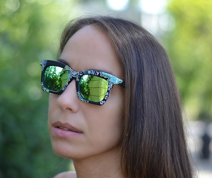 occhiali dipinti a mano
