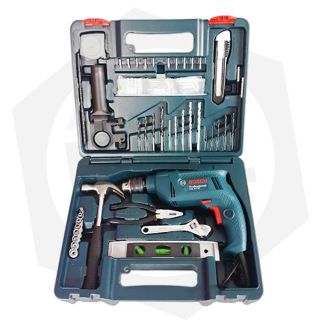 Bộ máy khoan động lực Bosch GSB 550 RE và bộ dụng cụ 100 chi tiết