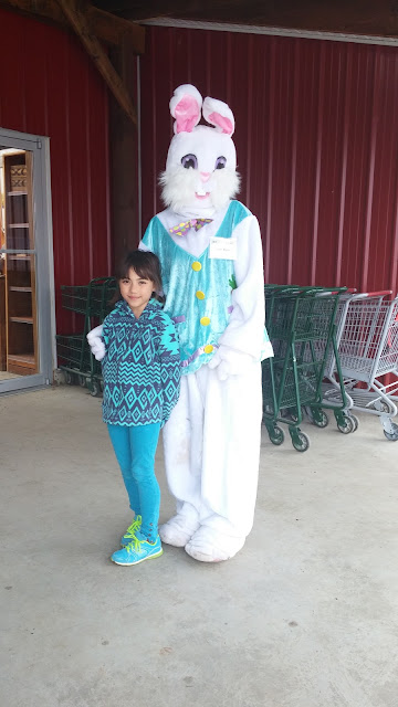 My eldest daughter picture with the Easter bunny lady!