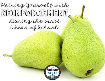 Pairing yourself with reinforcement is crucial for building strong, trusting relationships with your students.  Read about how pairing may look in a variety of different classrooms.  Plus enter a Back to School giveaway!