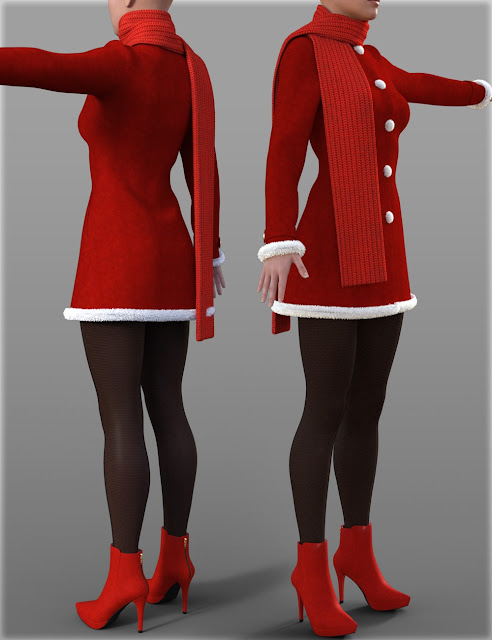 H-C Christmas Costumes for Genesis 3 Female