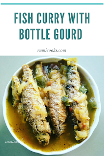 Fish curry with bottle gourd
