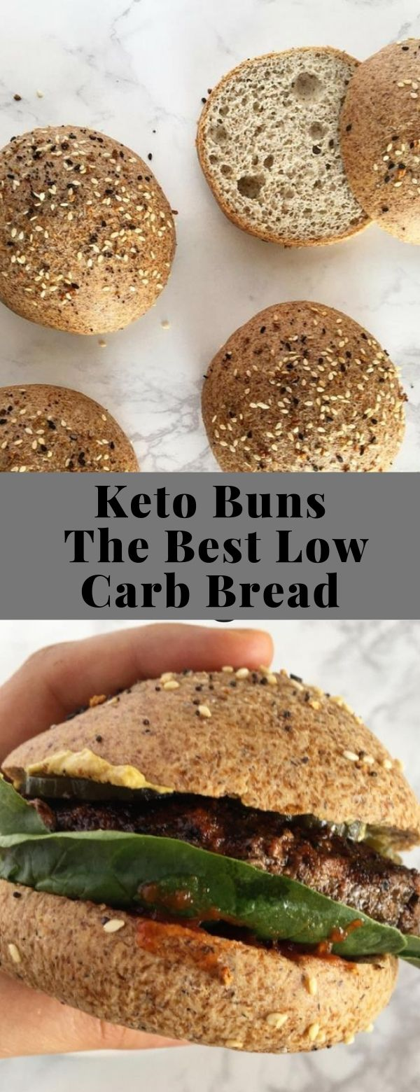 Keto Buns - The Best Low Carb Bread #breakfast #ketogenic #lowcarb #lunch #maindish