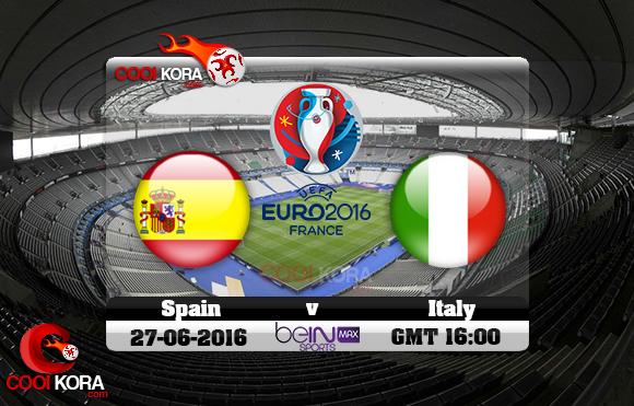 مشاهدة مباراة إسبانيا وإيطاليا اليوم 27-6-2016 بي أن ماكس يورو 2016