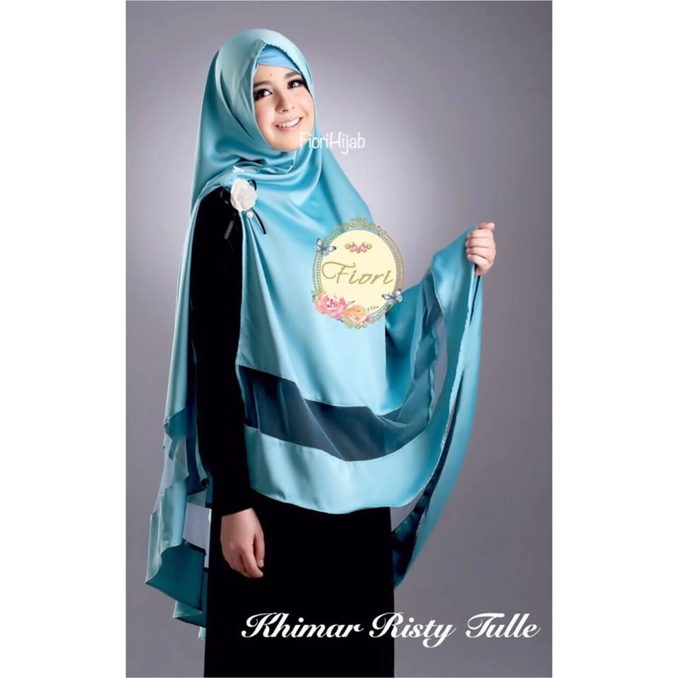 Khimar Fiory Risty Free Inner Daftar Harga Terupdate Indonesia Maroko Withpet Sj0004 Tulle By Fiori