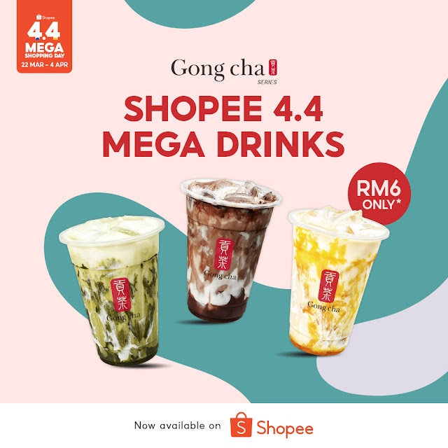 GONG CHA & SHOPEE Reintroduced Marble Series Their Best Sellers For Shopee 4.4 Mega Shopping Day