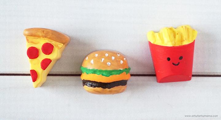 DIY Resin Junk Food Magnets