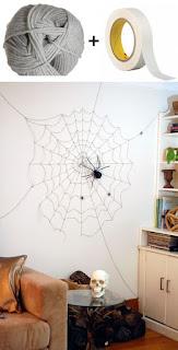 decorazione halloween ragnatele immagine