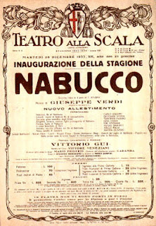 The bill advertising the first staging of Nabucco at La Scala in Milan
