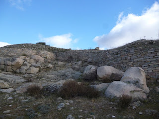 Muralla del primer recinto. Las Cogotas