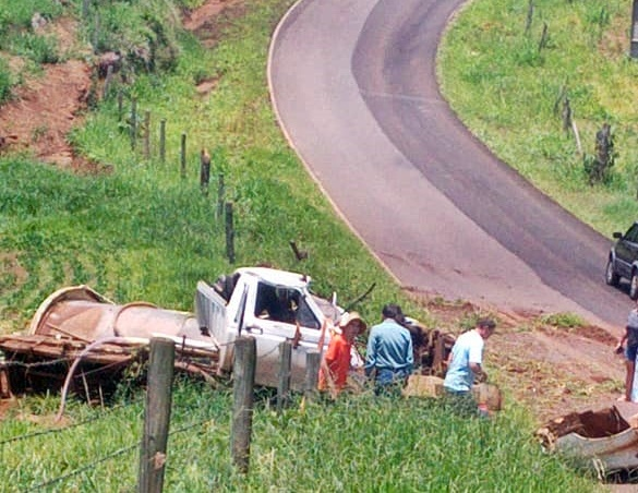 Palmital: Motorista morre em acidente na PR-364, trecho entre Palmital e Laranjal