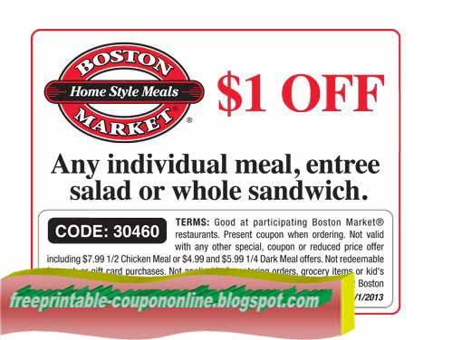 Boston market coupons printable 2019