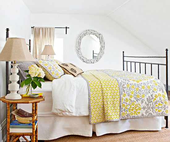 Modern Furniture: 2013 Bedroom Color Schemes From BHG