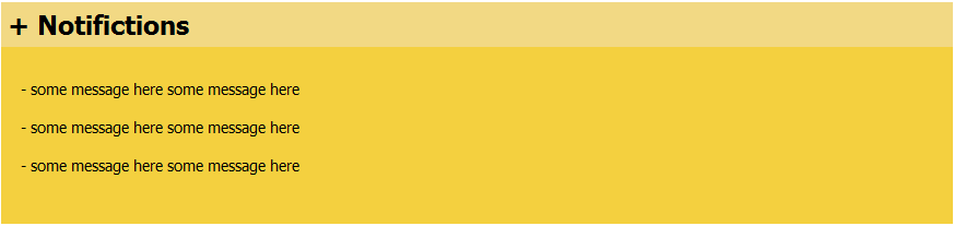 JAVA Dashboard Design - Notifications