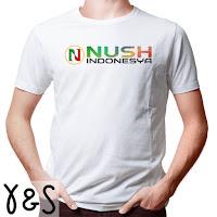 Kaos Pria NUSH IndoNesya - Putih YS
