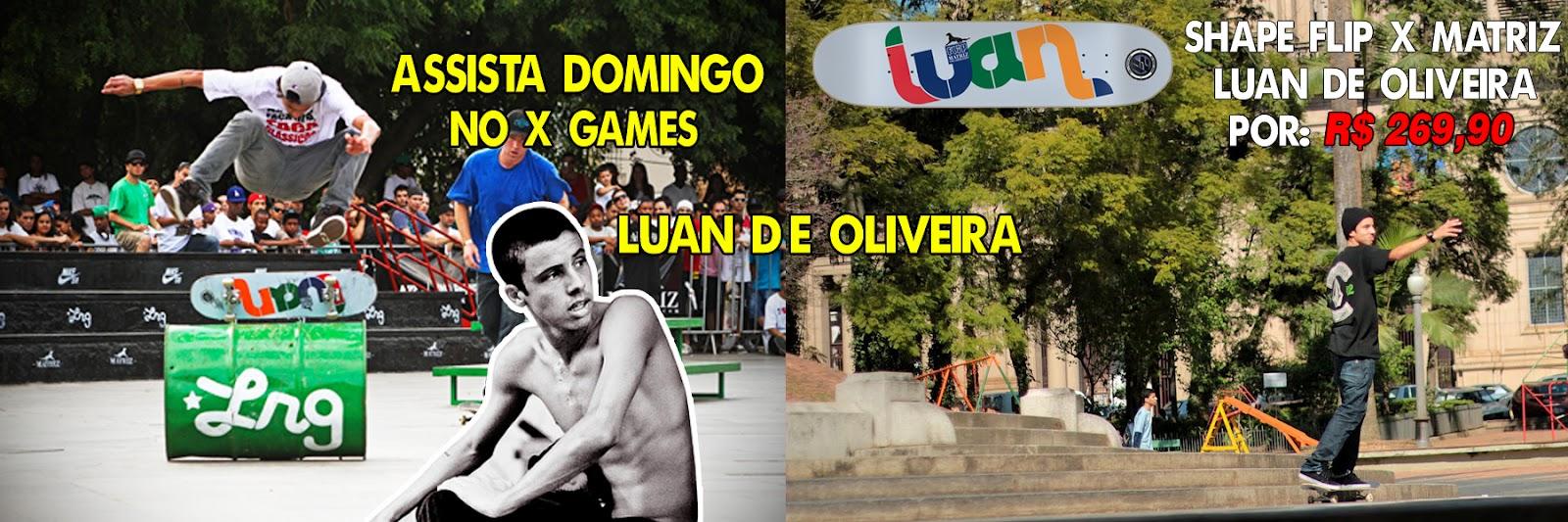ccc40356c96a7 Aproveite para conferir o shape Luan de Oliveira colab FLIP X Matriz Skate  Shop clicando Aqui