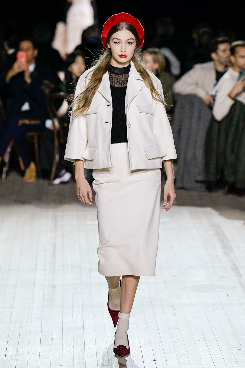 Gigi hadid walking for Marc Jacobs FW20 fashion show during NYFW