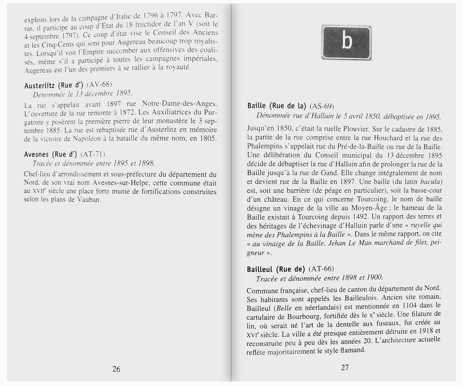 Histoire et Origines des Rues de Tourcoing - Éditions Ravet-Anceau, Collection Au fil des Rues.